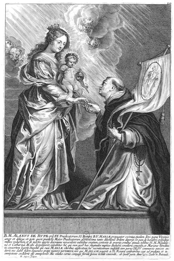 Beato Alain de la Roche con la Virgen