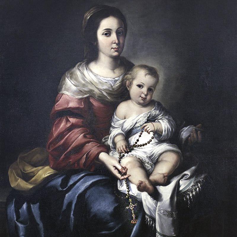 Virgen del Rosario con niño Jesús